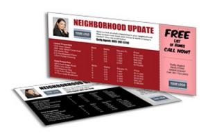 Neighborhood update postcards