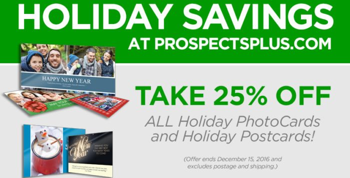 ProspectsPLUS! Holiday Savings