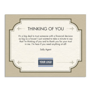Thinking of you Real Estate Client Appreciation postcards